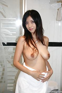 Big tits Asian GF