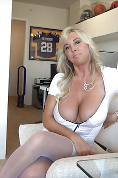 Busty cock milking