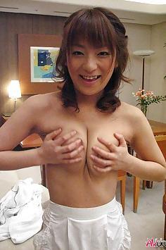 Akane Mochida in maid fucks n sucks her boss