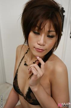 Wild Asian Mika Mizuno hottest group sex