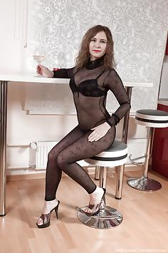 Adelis Shaman strips naked enjoying some wine
