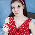 Maia models a red dress and masturbates in bed - image control.gallery.php