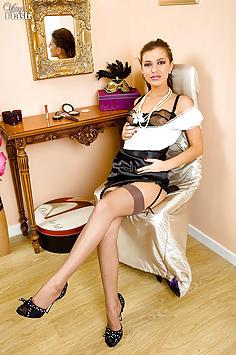 Kyra -Nyloned Latino glamour puss!